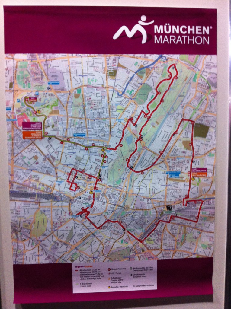 München Halbmarathon Strecke