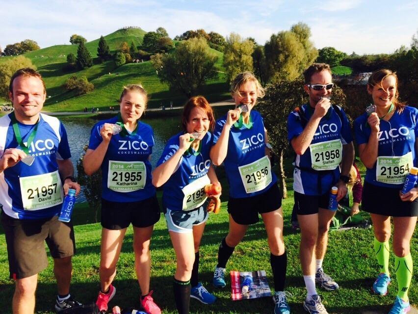München Halbmarathon Team Zico im Ziel