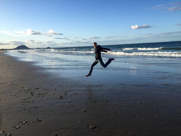 neuseeland papamoa beach strand