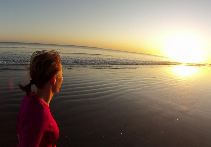neuseeland papamoa beach joggen sonnenaufgang