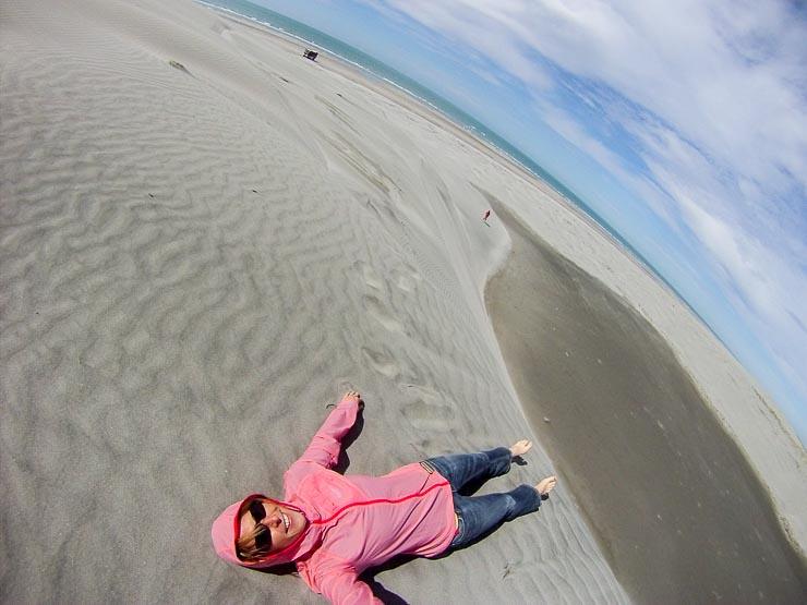 neuseeland neuseeland farewell spit sandduenen