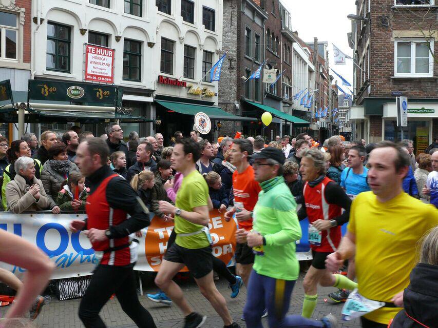 Venloop Halbmarathon auf der Strecke