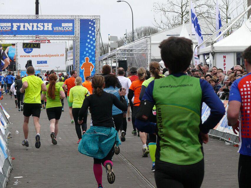 Venloop Halbmarathon Ziel Finish