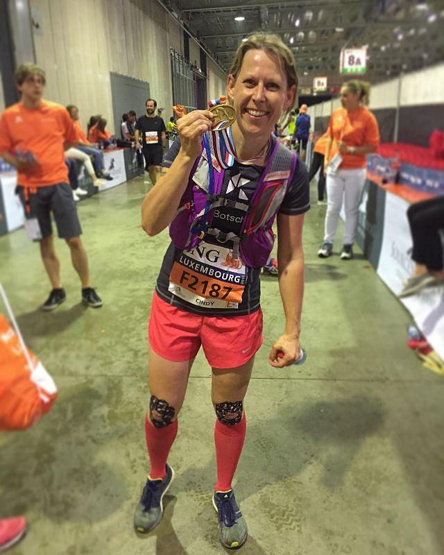 luxembourg marathon medaille im ziel