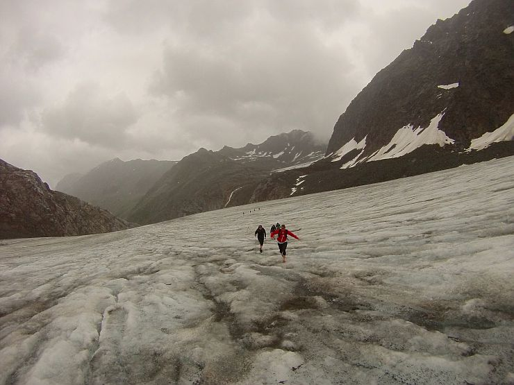Alpenüberquerung Transalpinerun Gletscher