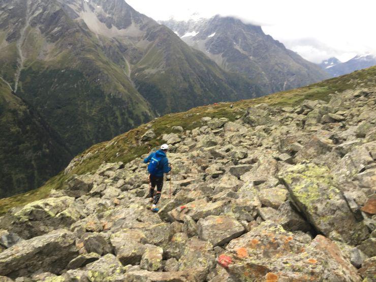 Transalpinerun Etappe 3 alpine Strecke