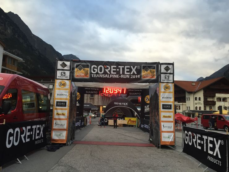 Transalpinerun Etappe 3 Ziel Pitztal