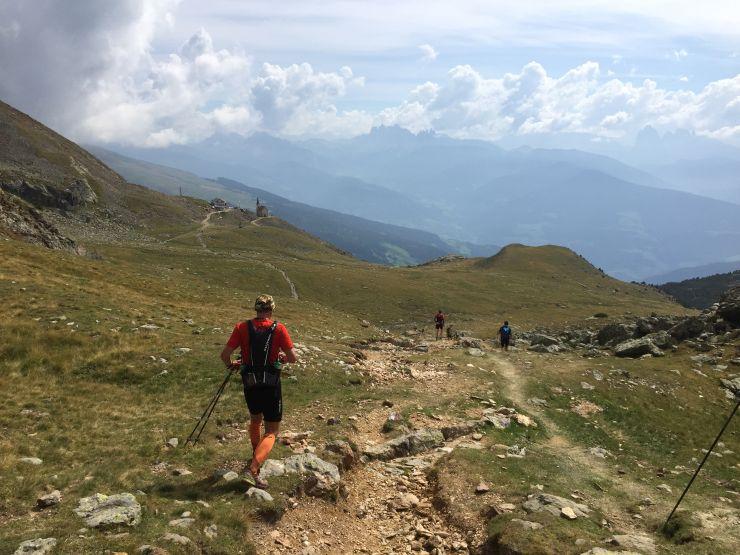transalpinerun etappe 7 Blick Dolomiten