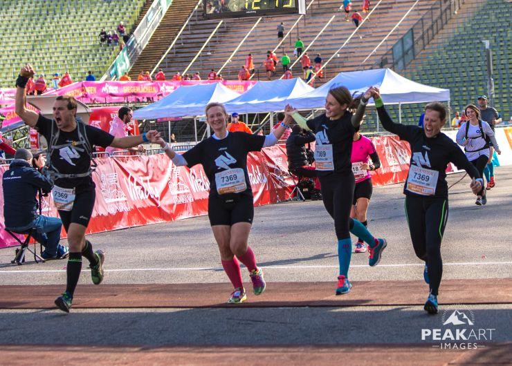 marathonstaffel Zieleinlauf muenchen olympiastadion