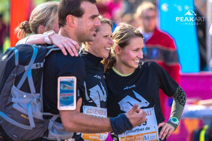marathonstaffel freunde und laufen