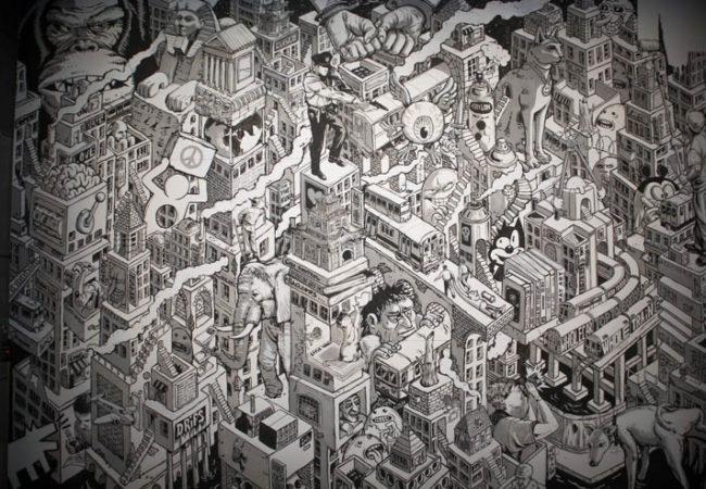 Magic City schwarzweiss