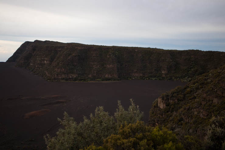 Piton de la Fournaise Kraterwand