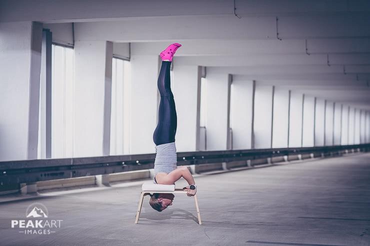 Feet-up Kopfstand