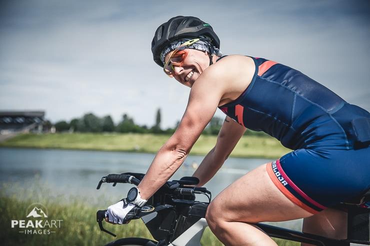 Ersten Triathlon Radfahren
