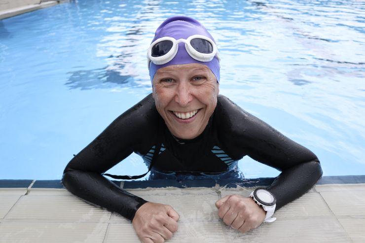 Ersten Triathlon kraulen