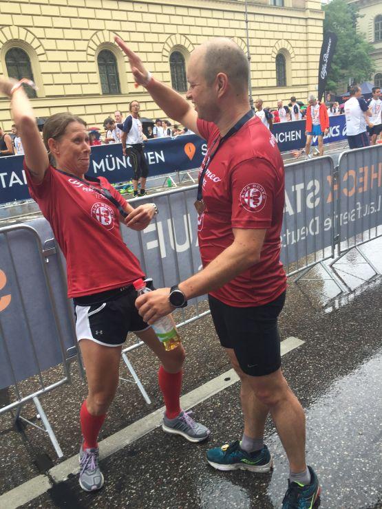 Halbmarathon Bestzeit Ziel