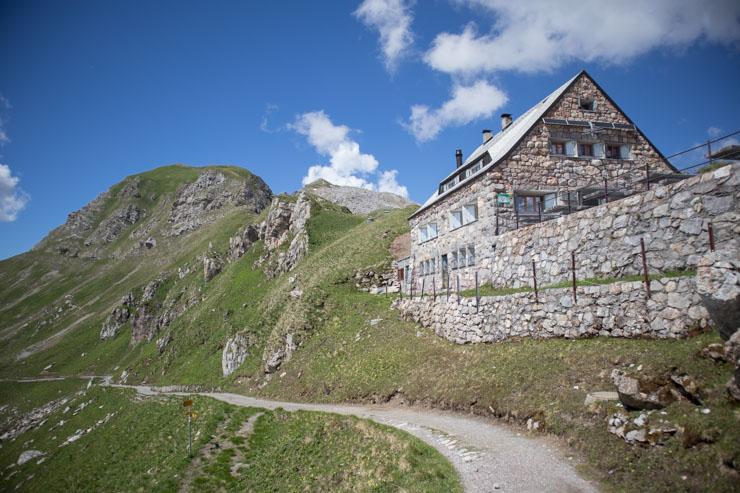 Liechtenstein Pfälzerhütte Pause