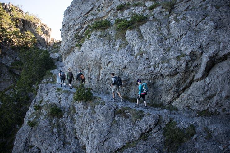 Liechtenstein Fürstensteig Alpspitz