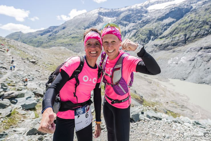 Outdoor Against Cancer Team mit Waltraud Laznik