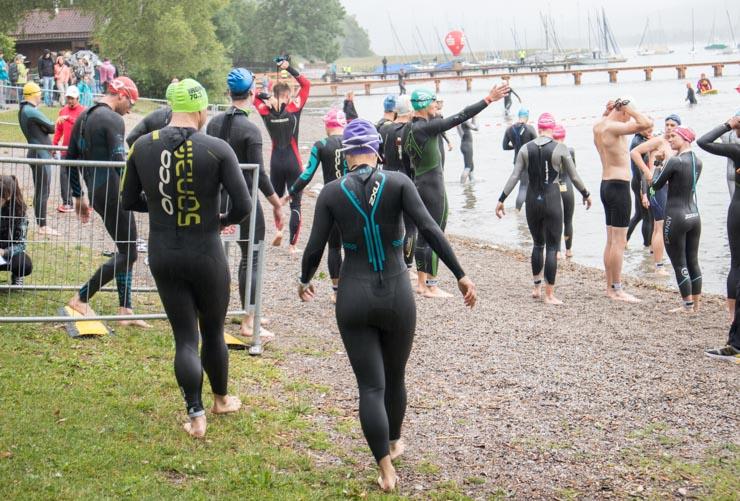 Triathlon Startbereich Tegernsee