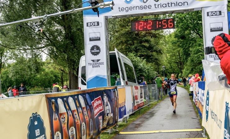 Triathlon Zieleinlauf geschafft