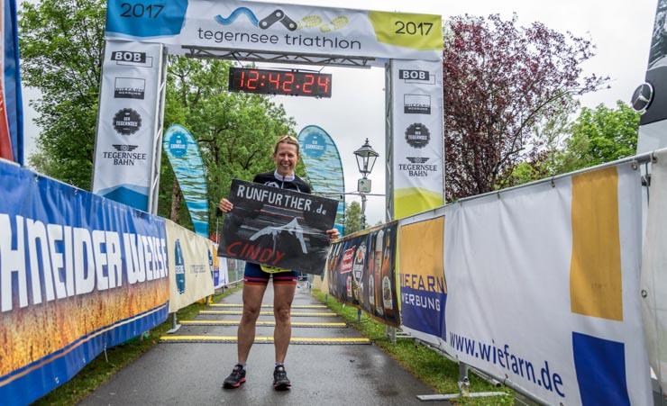 Triathlon Fanplakat Ziel