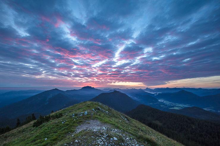 Biwakieren Sonnenaufgang Berg