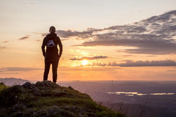 Biwakieren Sonnenuntergang Bayern