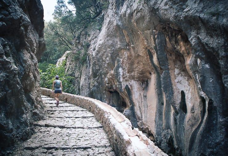 GR 221 Mallorca Schlucht von Biniaraix