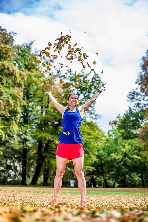 Laufen im Herbst Motivation