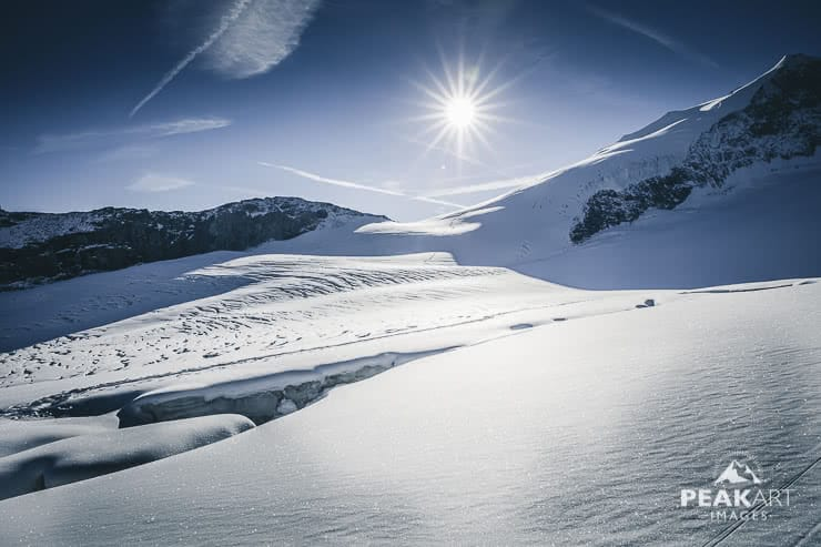 bishorn gletscherspalte