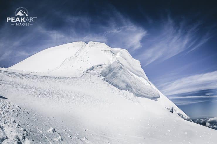 bishorn gletscherspalten