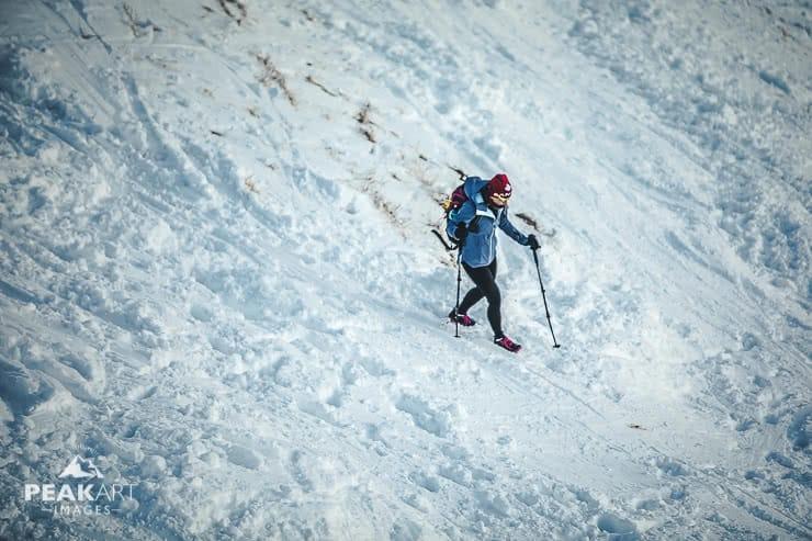 Rotwand Abstieg vom Gipfel