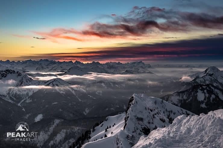 Rotwand Farbenspiel Sonnenuntergang