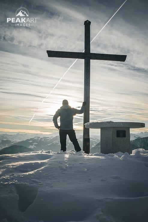 Pendling Gipfel mit Gipfelkreuz
