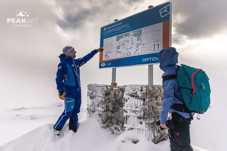 Ortovox Tourenlehrpfad Gipfel