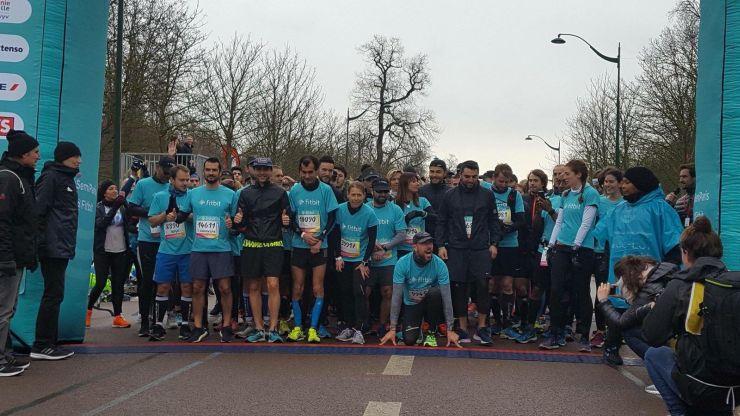 Paris Halbmarathon startlinie