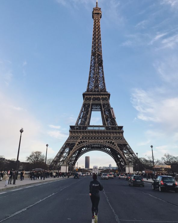 Paris halbmarathon eiffelturm