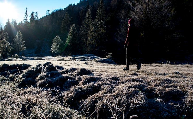 hirschhoerndlkopf winter sonnenaufgangswanderung