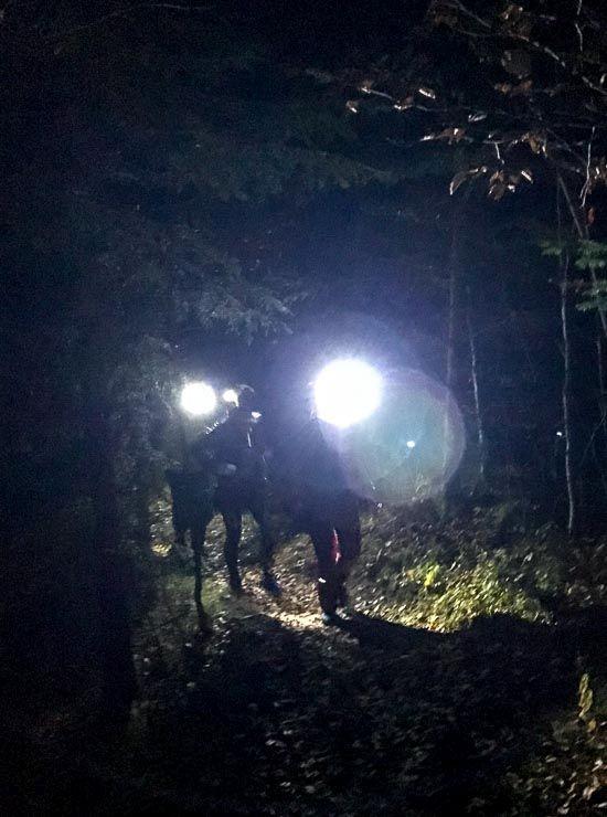 hirschhoerndlkopf stirnlampen sonnenaufgang