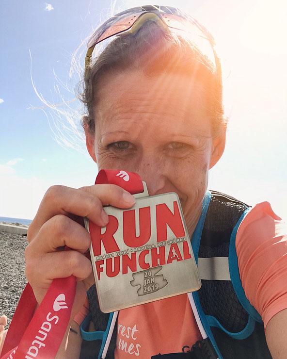 madeira marathon medaille ziel