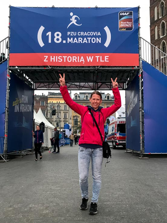 startlinie marathon in krakau