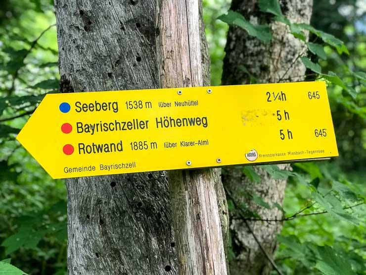 hinweisschild seebergkopf bayrischzell