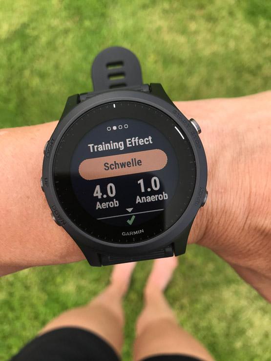 garmin forerunner 945 trainingseffekt schwelle