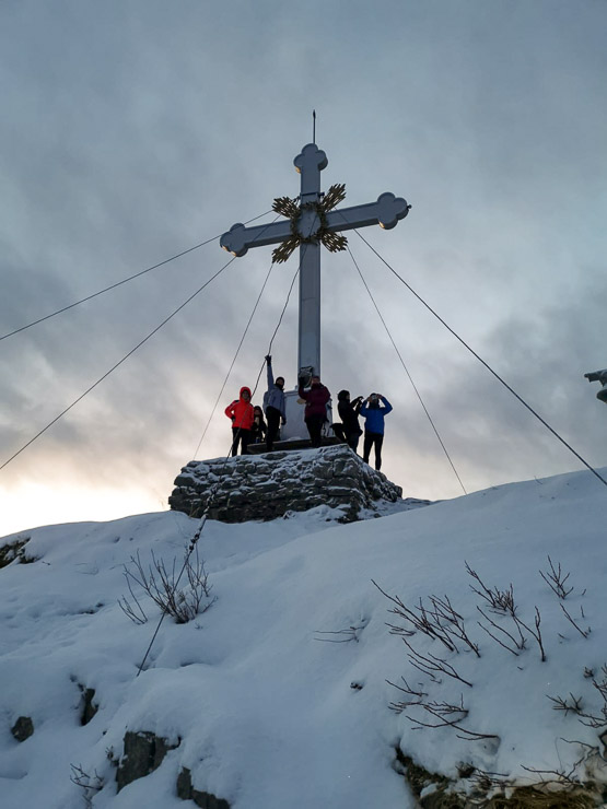 winterwanderung mit freunden auf den wallberg