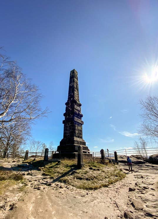 obelisk lilienstein saechsische schweiz