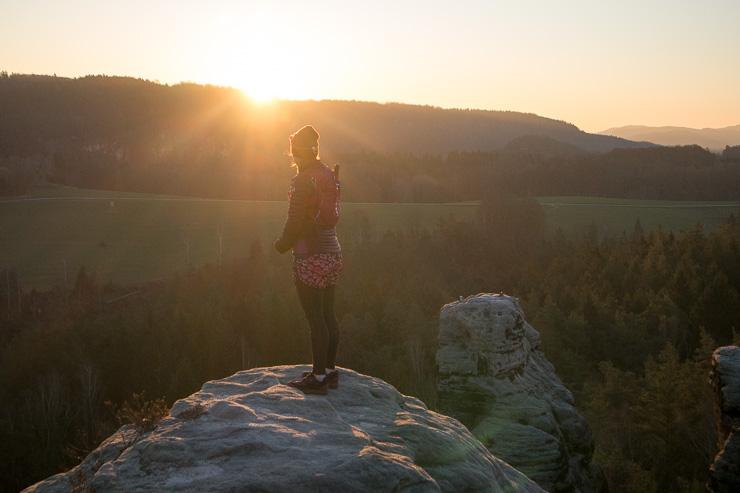 sonnenaufgang gamrig elbsandsteingebirge