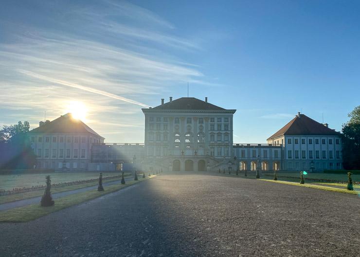 virtueller halbmarathon sonnenaufgang nymphenburger schlosspark