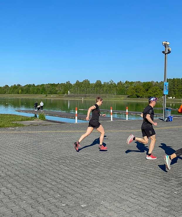 training und bestzeitversuch 5 km distanz